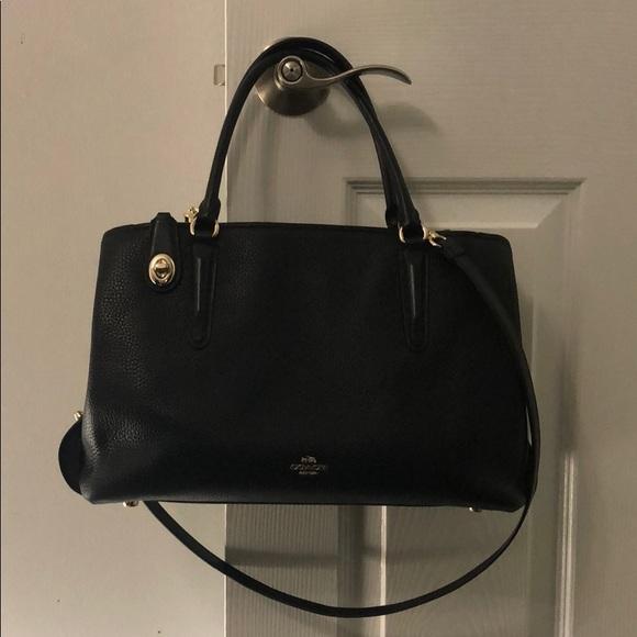 Coach Handbags - Coach Brooklyn Carryall 34 Large size black pebble a19118a58352f